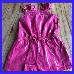 Cat & Jack pink romper. Lined 3T